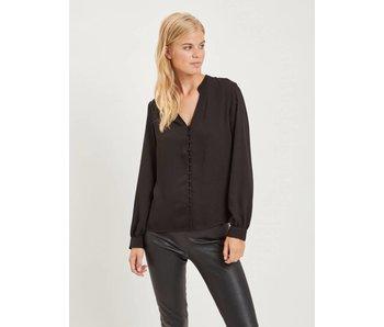 VILA Visiggy LS shirt - black - 38
