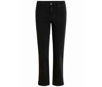 VILA Vibarcher RW 7/8 straight jeans   zwart   32