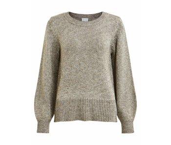 VILA Vicleared knit metallic L/S top - small