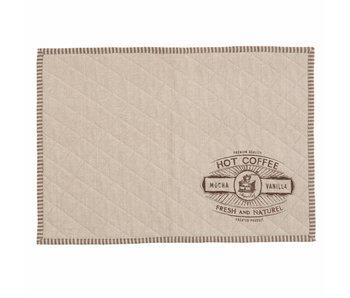 Clayre & Eef placemat Hot coffee 6 stuks 48x33