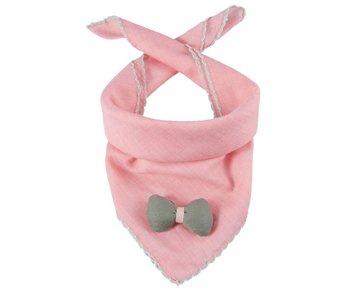 Clayre & Eef Kindersjaal strik | roze | 46x46