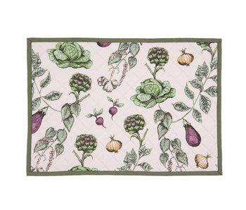 Clayre & Eef Placemat groenten 6 stuks 48x33
