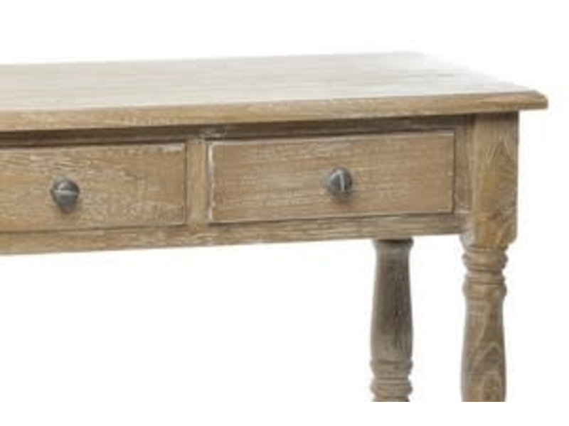J-Line Console met 3 lades in hout 100x30x75