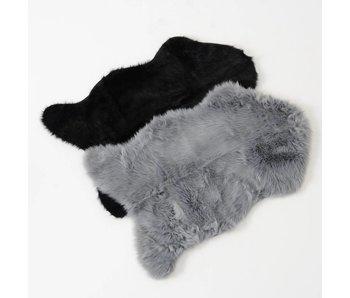 fourrure déco Skoldi 90x60cm  - gris