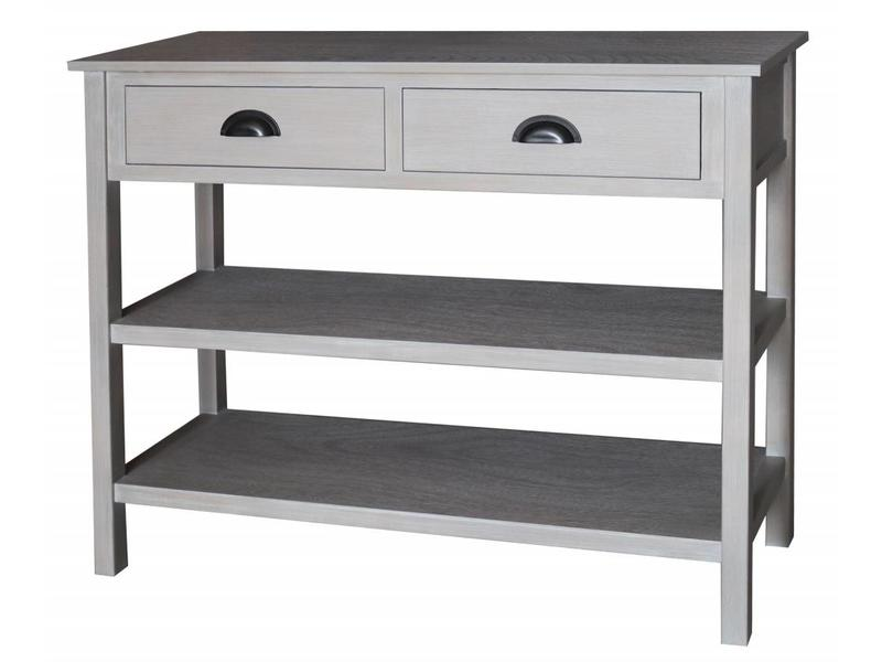Hamilton Living Table murale Gustave W/2 drawers - soft melody
