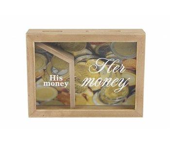 """Hamilton Living Spaarpot  """"his en her money"""""""