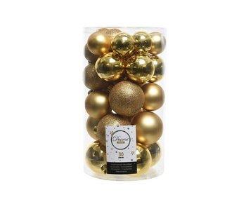 Koker mix 30 ballen licht goud