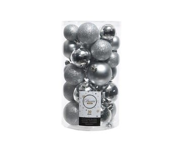 Koker mix 30 ballen zilver
