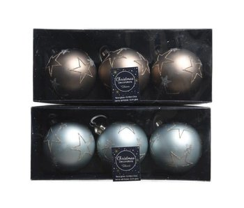set de 3 boules de Noël en verre