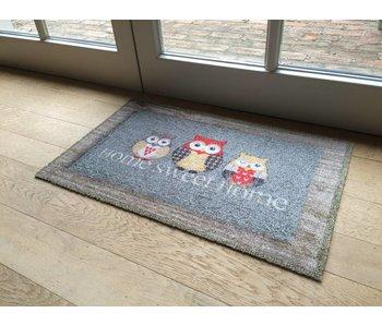 Tapis Deco Soft 40x60 cm Home Sweet Home Hibou
