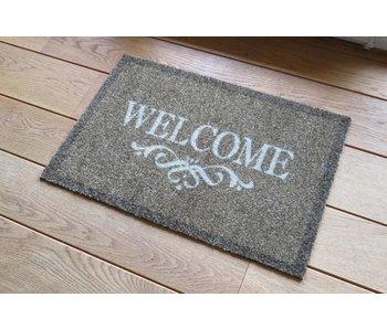 Tapis Deco Soft 40x60 cm Welcome marron