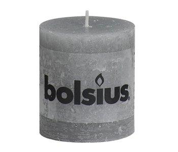 Bolsius stompkaars | Large | 80/68 | Rustiek grijs
