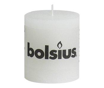 BOLSIUS STOMPKAARS 80/68 RUSTIEK WIT