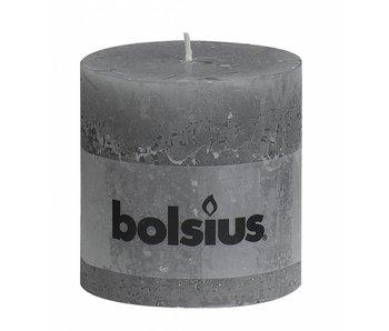 BOLSIUS STOMPKAARS 100X100 RUSTIEK LICHTGRIJS
