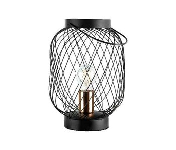 lampe de table lanterne en fer 21x30.5cm