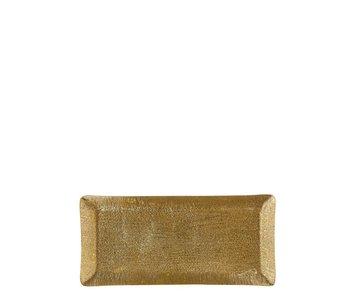 Mace bord rechthoek goud - l35,5xb16,5xh2cm