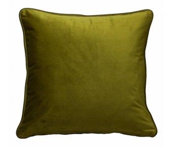 sierkussen Velluto olive 45x45 cm