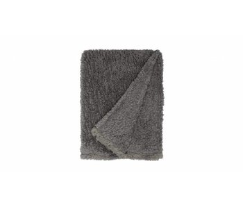 TEDDY PLAID 150X200 donker grijs