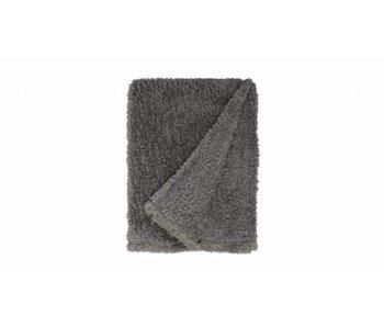 TEDDY PLAID 150X200 gris foncé