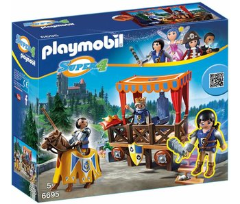 18 PLAYMOBIL 6695 ROYAL TRIBUNE WITH ALEX