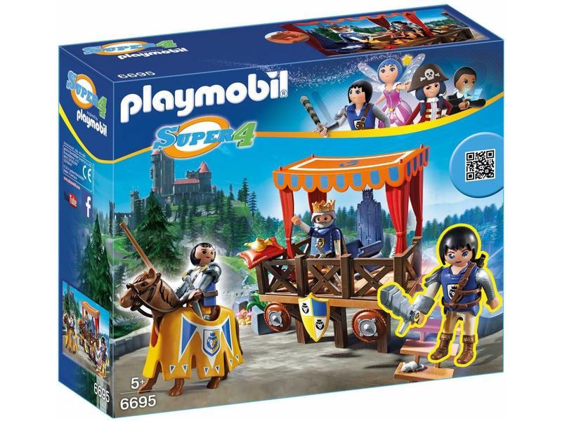18 PLAYMOBIL 6695 ROYAL TRIBUNE WITH ALEX