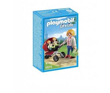 Playmobil Tweelingen kinderwagen