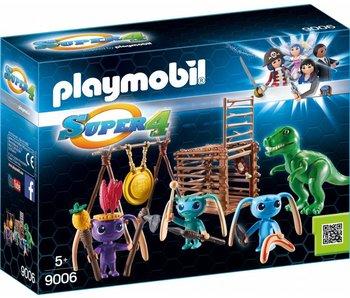 18 PLAYMOBIL 9006 ALIEN KRIJGERS MET T-REX