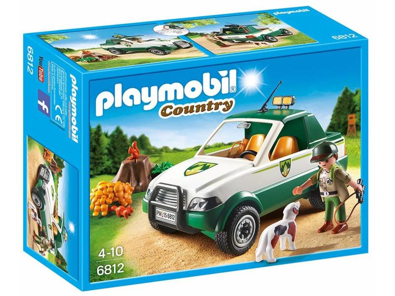 18 PLAYMOBIL 6812 GARDE FORESTIER + PICK-UP