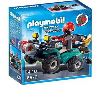 PLAYMOBIL Quad avec treuil et bandit 6879