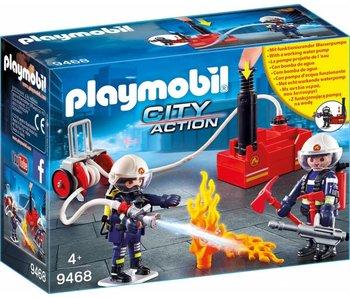 Playmobil Brandweerteam met waterpomp