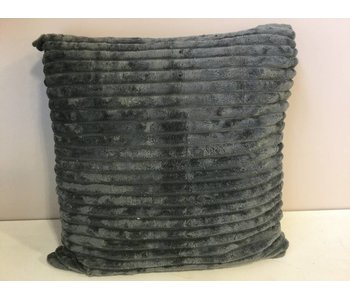 Coussin gris foncé 45x45cm