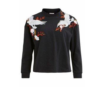 VILA Viswansy LS trui | zwart | medium