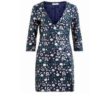 VILA Vifunkle 3/4 V-nek jurk | bloemenprint | 38