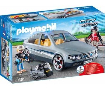 Playmobil Voiture banalisée avec policiers en civil 9361