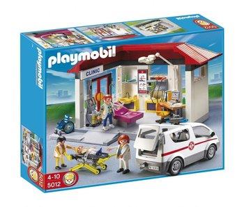 Playmobil médecin d'urgence avec ambulance 5012