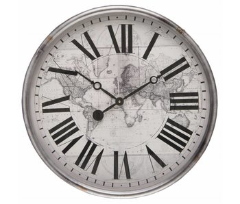 Clayre & Eef Horloge gris 56*18cm / 1xAA