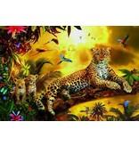 educa 500 leopard avec ses petits
