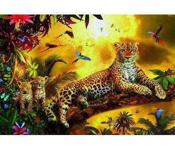 500 leopard avec ses petits
