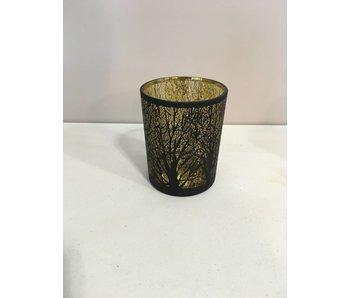 Partylight tree goud inside mat zwart 10x12 cm