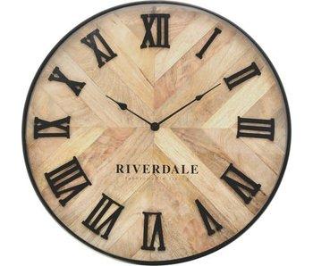 Riverdale Wall clock Nate brown 46cm