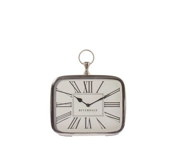 Riverdale Table clock Luton silver 25cm