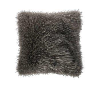 Riverdale Coussin à poils gris  50x50cm