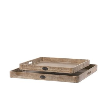 Riverdale Tray basic natural s/2 60cm