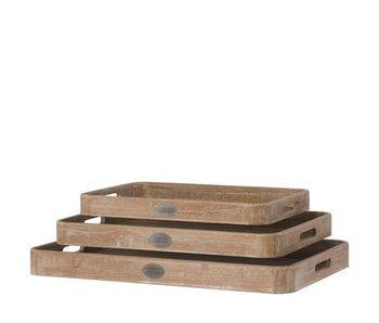 Riverdale Dienblad naturuurlijk hout | Large | 55 cm