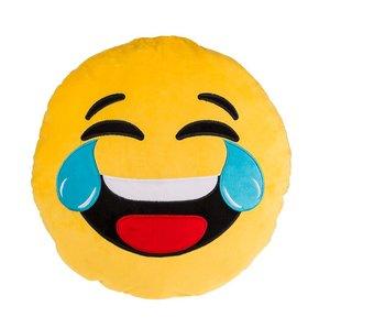 Lachende emoticon kussen  50 cm