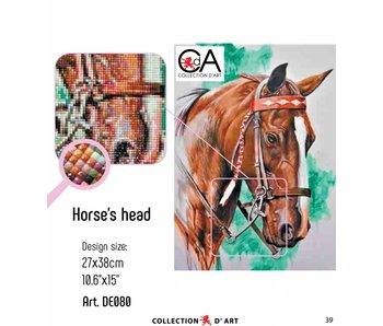 Diamond Painting  paard Clos up
