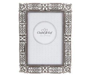 Clayre & Eef Fotolijst dark creme 10*15 cm