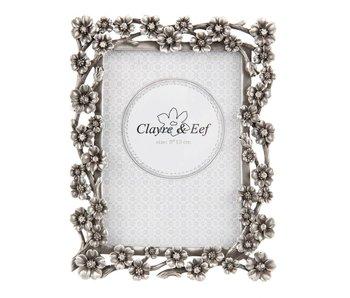 Clayre & Eef Fotolijst antique zilver 9x13cm