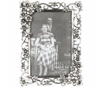 Clayre & Eef Cadre photo gris foncé 14x19/10x15cm