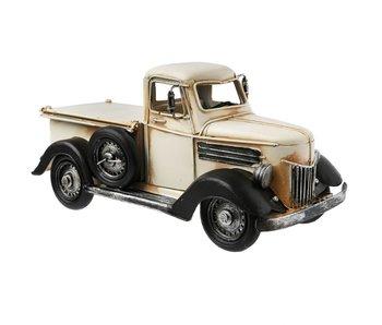 Clayre & Eef Model auto creme 26*12*13 cm